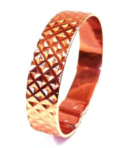 M93: Magnetic Patterned Copper Diamond Bracelet